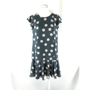 Ann Taylor LOFT Shift Dress Mini Polka Dot Ruffle